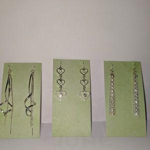Mudd 3 pair drop earring set women's jewelry